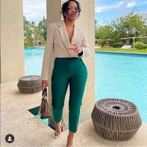 NWT ZARA Crop Blazer Sand XS Blogger's Favorite